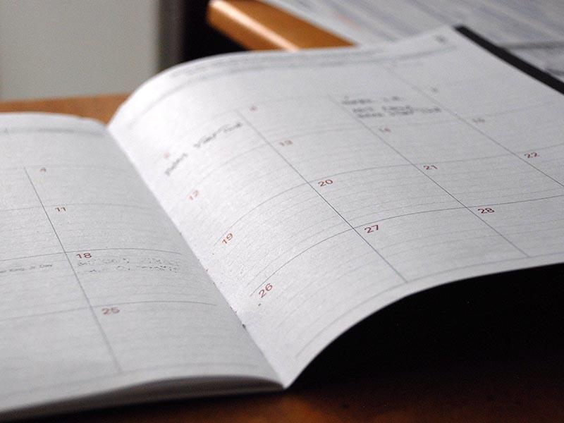 Elementos del calendario editorial de un blog